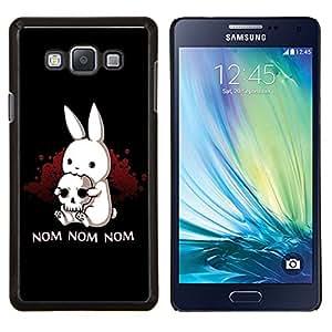 "Be-Star Único Patrón Plástico Duro Fundas Cover Cubre Hard Case Cover Para Samsung Galaxy A7 / SM-A700 ( Conejo Terror Skull Pirate Arte Cita Nom Nom"" )"