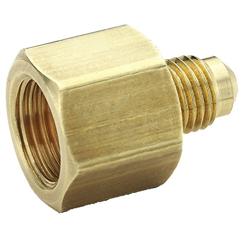 Parker 661FHD-4-6 45 Degree Fitting, Male Flare to Female Flare, Brass, Flare Connector, 1/4