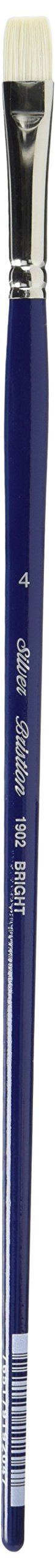 Silver Brush 1902-4 Bristlon Stiff Synthetic Long Handle Filament Brush, Bright, Size 4