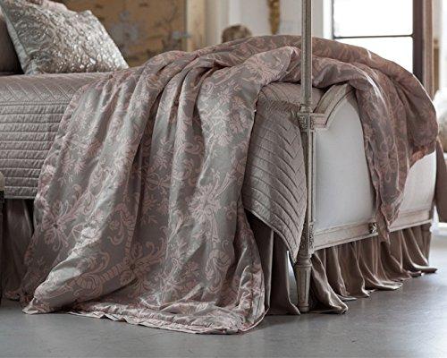 Lili Alessandra ZLT533T Mackie Throw Blanket, Taupe/Blush, 55