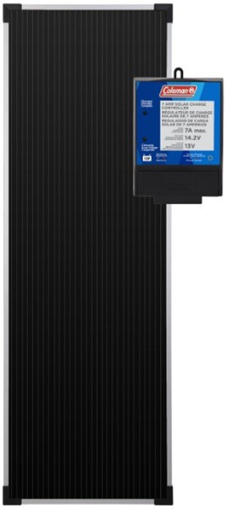 Sunforce 58033 Coleman 18 Watt 12-Volt Solar Battery Charger Kit, Durable Aluminum Frame and Shatterproof Tempered Glass, Amorphous Solar Technology, Weatherproof, Connects Directly to Battery