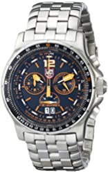 Luminox Men's 9382 Quartz Chronograph Stainless Steel Black Dial Watch