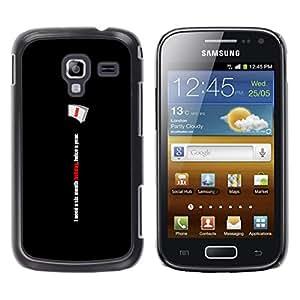 LECELL--Funda protectora / Cubierta / Piel For Samsung Galaxy Ace 2 -- Seis Meses divertida del día --