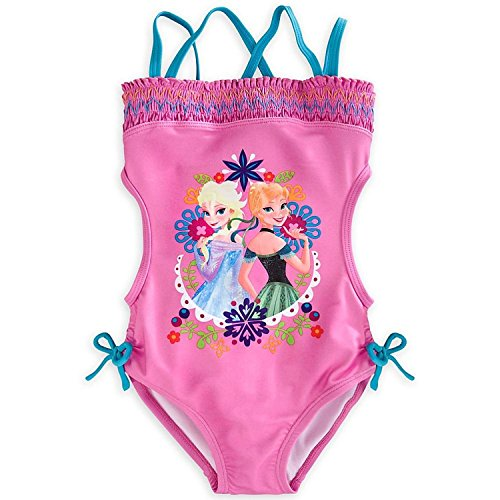 Disney Little Girls' Anna & Elsa Trikini Swimsuit
