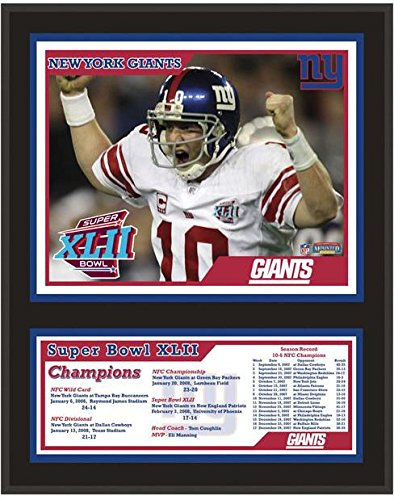 (New York Giants Super Bowl XLII Champions Plaque - NFL Team Plaques and Collages)
