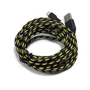 Tela de color negro HTC One M8M7Mini M5M4Max cargador Cable de datos