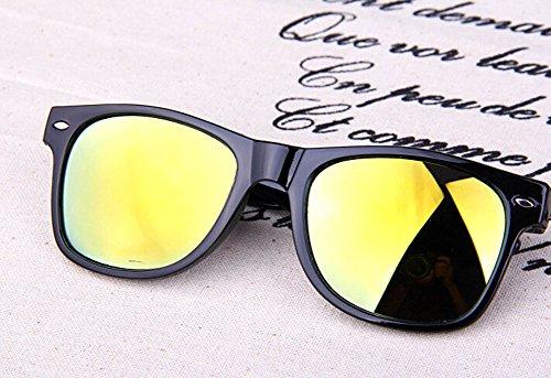 Resina Metal polarizadas de y Marco Azul de Gafas Moda Mujer Gafas de 1pcs de Gafas 48×55mm Sol Hombre Sol Dorado BIGBOBA Sol 8Uw4Tqnx