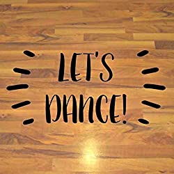 "Senior Party Dance Sticker, Prom Decorations, High School Dance Floor Decal, 60""W x 30""H Black"