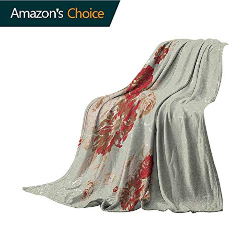- Antique Baby Monthly Milestone Blanket,Vintage Style Rose Print on Marble Pattern Floral Antique Design Garden Plants Comfortable Soft Material |give You Great Sleep,30