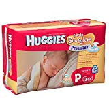 Huggies Gentle Care Preemies Diapers, Size P, 180-count