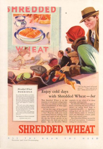 dded Wheat Cereal football ad 1926 ()