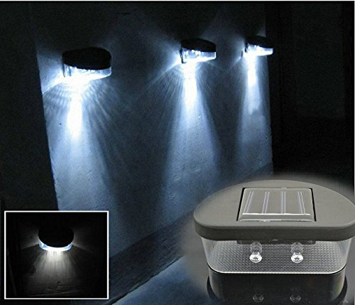 New Security Wireless Solar Powered 2 Led Outdoor Lights Lamp Without Battery