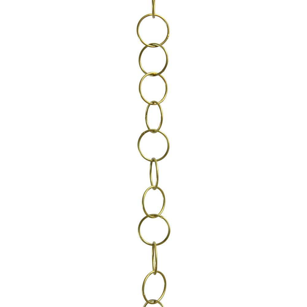 RCH Hardware CH-41L-PB-3 Solid Brass Round Link Chain | 1.25 inch Diameter, 3 Swg Wire | 3 ft Increments