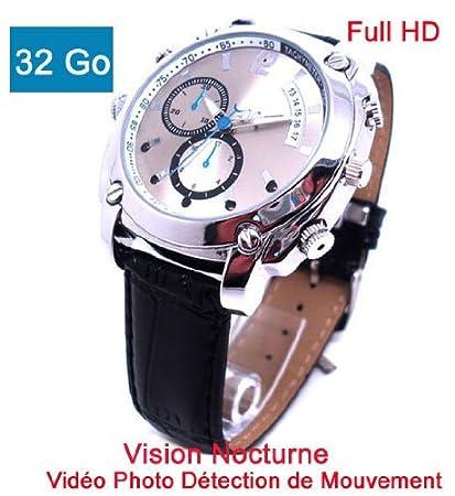 Cyber Express Electronics Reloj cámara oculta espía 32 GB Full HD 1920 x 1080P visión nocturna