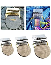 Small Loom Speedweve Type Weave Tool, Beginners Wooden Loom, Most Convenient Darning Loom, for Mending Jeans, Socks and Clothes Quickly and Easily. (28 Hooks)