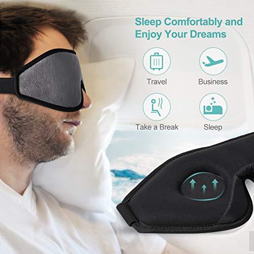 Eye Mask for Sleeping, Unimi 3D Contoured Sleep Mask for Women Men, Super Soft and Comfortable,100% Blockout Light 3D Eye Cover & Blindfold for Travel, Shift Work, Naps (Grey) …