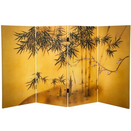 Oriental Furniture 3 ft. Tall Double Sided Bamboo Tree Ca...