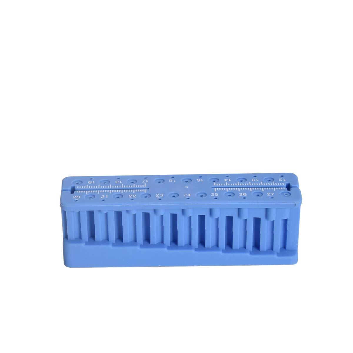 Anhuadental Dental Measuring Tools Holder Stand Autoclavable Endo Block File Ruler