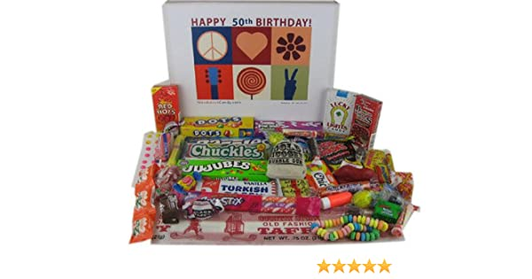 Amazon 50th Birthday Gift Box Peace Love