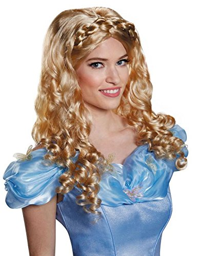 [Disguise Women's Cinderella Movie Adult Costume Wig, Blonde, One Size] (Halloween Disney Princess Costumes Adults)