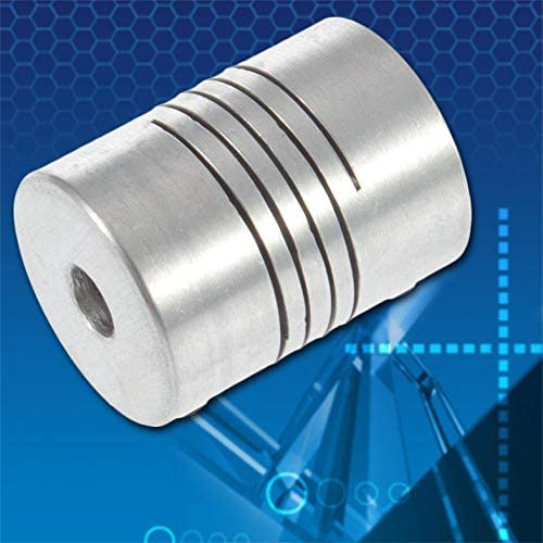 Impresora 3D Caliente Motor Paso a Paso Acoplador de Acoplamiento Flexible//Acoplamientos de Eje 5mmx8mmx25mm Acoplador de Eje de Eje Flexible Acoplamiento de Motor Plata