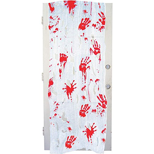 Freaky Fabric Bloody Cloth Halloween Prop Decorations, 28 Inch x 118 -