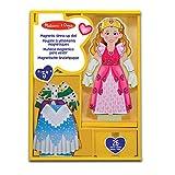 Melissa & Doug Deluxe Princess Elise Magnetic Wooden Dress-Up Doll Play Set (24 pcs)