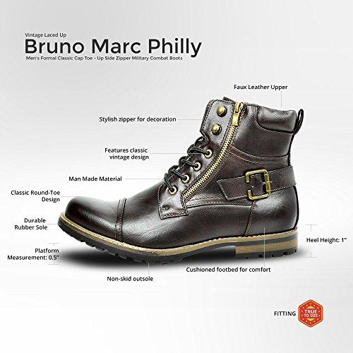 Stivali Da Combattimento Moto Militari Bruno Marc Dark Brown-3