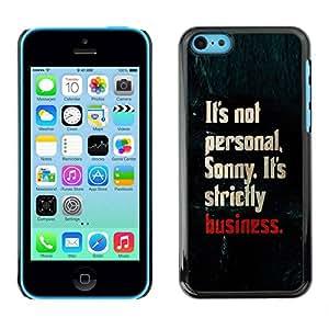 PC/Aluminum Funda Carcasa protectora para Apple Iphone 5C personal business strictly shark text / JUSTGO PHONE PROTECTOR