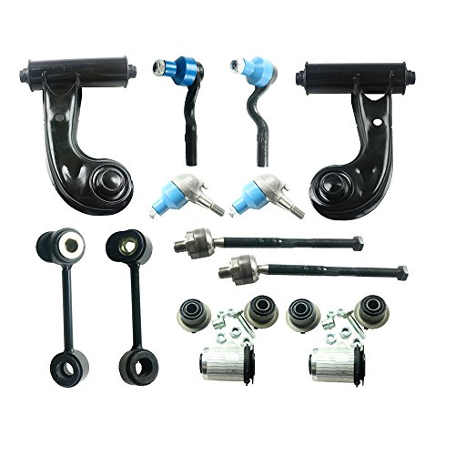 Front Upper Left Right Control Arms Lower Ball Joints Sway Bar Links Inner Outer Tie Rods Suspension Kit 12pcs Fit for Mercedes-Benz W210 E320 E300 E420 E430 E55 AMG New