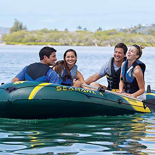 Intex 4, 4-Person Inflatable Boat Aluminum and Output Air