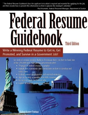 federal resume guidebook write a winning federal resume to get in get promoted and survive in a government career 3rd edition amazoncom books