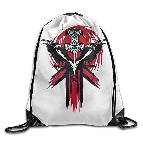 Makayla Riley Red Sword Tattoo Gym Eco-Friendly Luggage Drawstring Backpack Unisex Portable Sack Bag]()