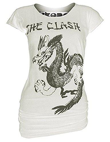 Vintage Fille blanc taille M The Clash shirt Amplifiés Dragon T 67qSwBBT