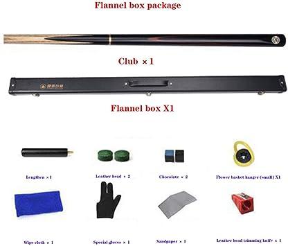 QIANDING SNK Snooker Club Handmade 3/4 Joint Single Handle 19 oz 10MM Tip con Club Box Tacos de Billar (Color : C-10mm): Amazon.es: Deportes y aire libre