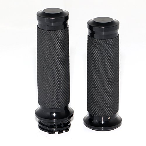 - Senkauto 1 inch Black Motocycle Handlebar Hand Bar Grips for Harley Touring Sportster Dyna Softail Road Electra Glide Dyna