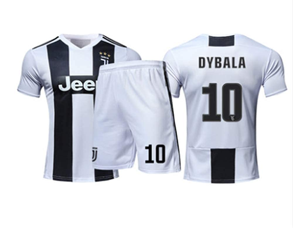 c22e547ed Amazon.com  LISIMKE 2018-2019 Home Dybala  10 Juventus Kids Or Youth Soccer  Jersey   Shorts   Socks  Clothing