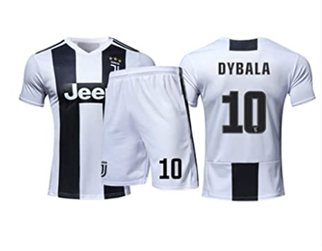 more photos 6dbc1 e0342 LISIMKE 2018-2019 Home Dybala #10 Juventus Kids Or Youth Soccer Jersey &  Shorts & Socks