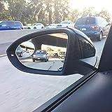 Ampper Oval Blind Spot Mirror, HD Glass Frameless