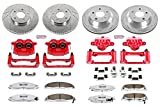 Power Stop KC1548-26 Z26 Street Warrior Brake Kit with Powder Coated Caliper