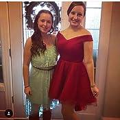 Amazon.com: Bess Bridal Women's High Low Off Shoulder Lace