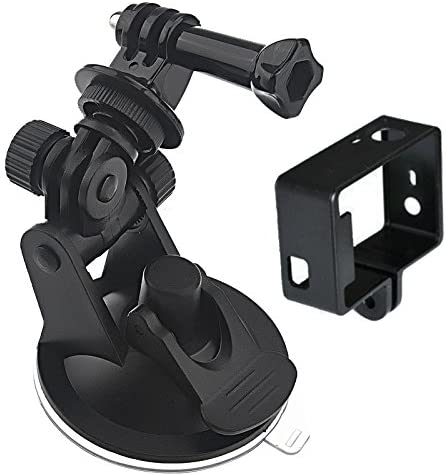 2 in 1 Suction Cup Mount //3 Durable Frame Mount Set for GoPro HERO4 //3
