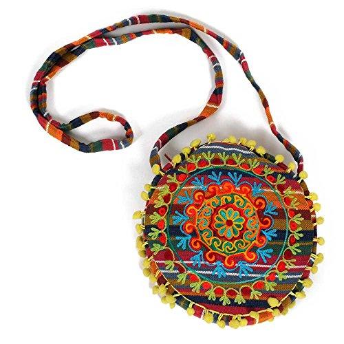 Sac IB00V amp; différents coton design sacs HAB de 100 indien colorés et Priya coloris femme à bandoulière GUT A0EEdqw