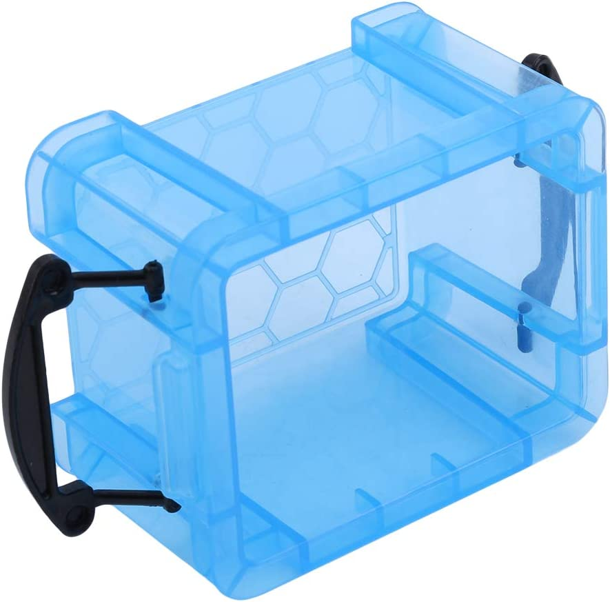 Yunzee Desktop Storage Box Sundries Case Small Objects Jewelry Box with Lock Lid Mini Creative Home Candy Color Office Organizer Box,Blue