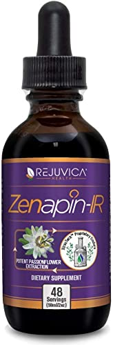 Zenapin IR – All-Natural Advanced Liquid Calming Remedy That Works Fast 2X Absorption Kava Kava, Ashwagandha, Passionflower, Chamomile, B-Vitamins More