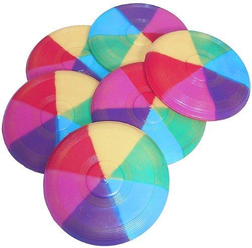 Mini Rainbow Flying Discs (1 dz) (Flying Rainbow Discs)