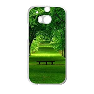 Personalized Creative Cell Phone Case For HTC M8,glam fresh greeen forest and path
