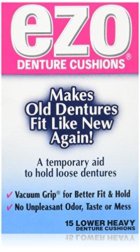 Ezo Denture Cushions Lower Heavy 15 Each (Pack of 3) by Ezo