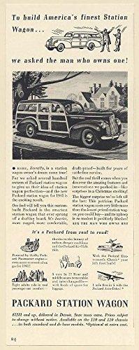 1941 Packard Station Wagon Woody Wagon Print Ad (1941 Packard Wagon)