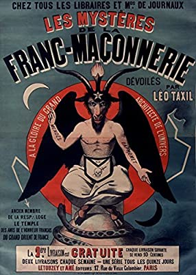 Demonology, Witchcraft, Occult & Magic THE TAXIL HOAX EXPOSURE by L??o Taxil c1890's 250gsm A3 Gloss Art Card Reproduction Poster by World of Art